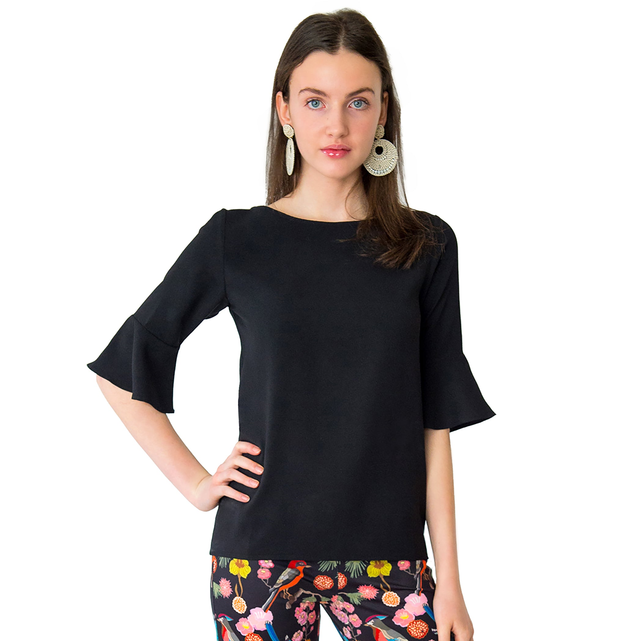 Caroline Blouse in Black - Elizabeth Ackerman New York