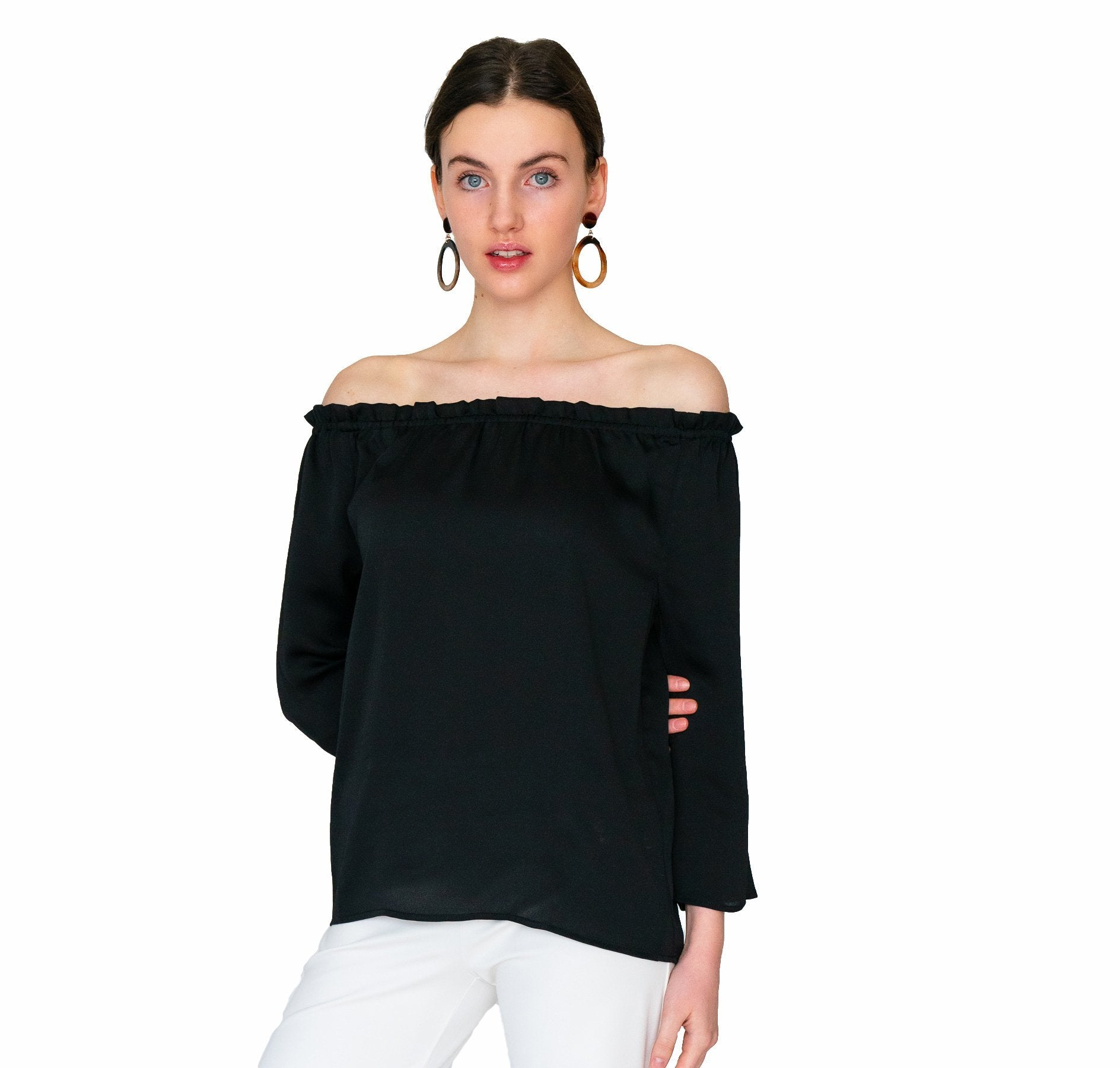 Bridget Blouse Solid Black - Elizabeth Ackerman New York