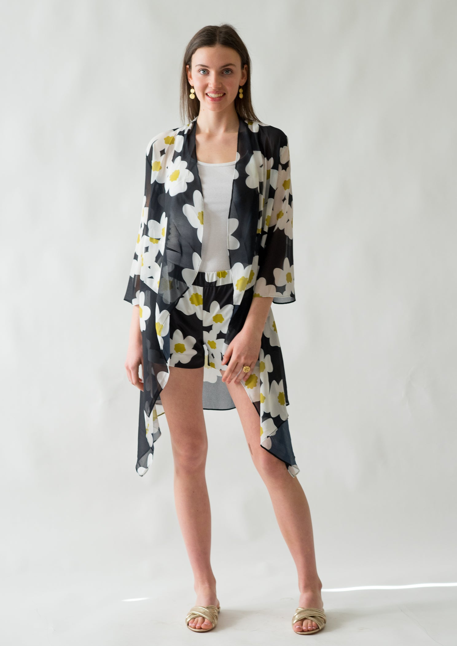Nadia 3 way top in Mod Floral - Elizabeth Ackerman New York