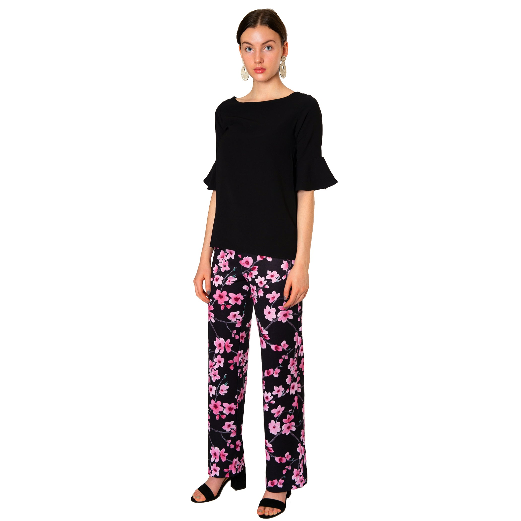 Toby Palazzo Pant in Cherry Blossom - Elizabeth Ackerman New York