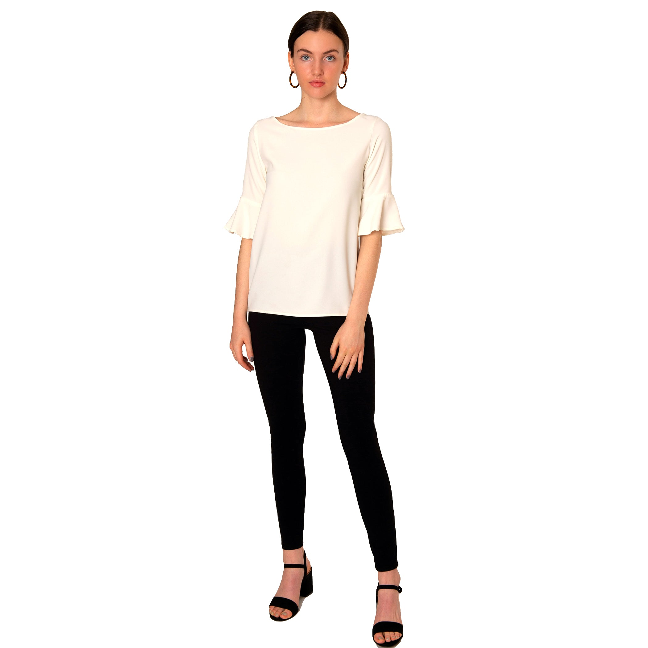Caroline Blouse in Ivory - Elizabeth Ackerman New York