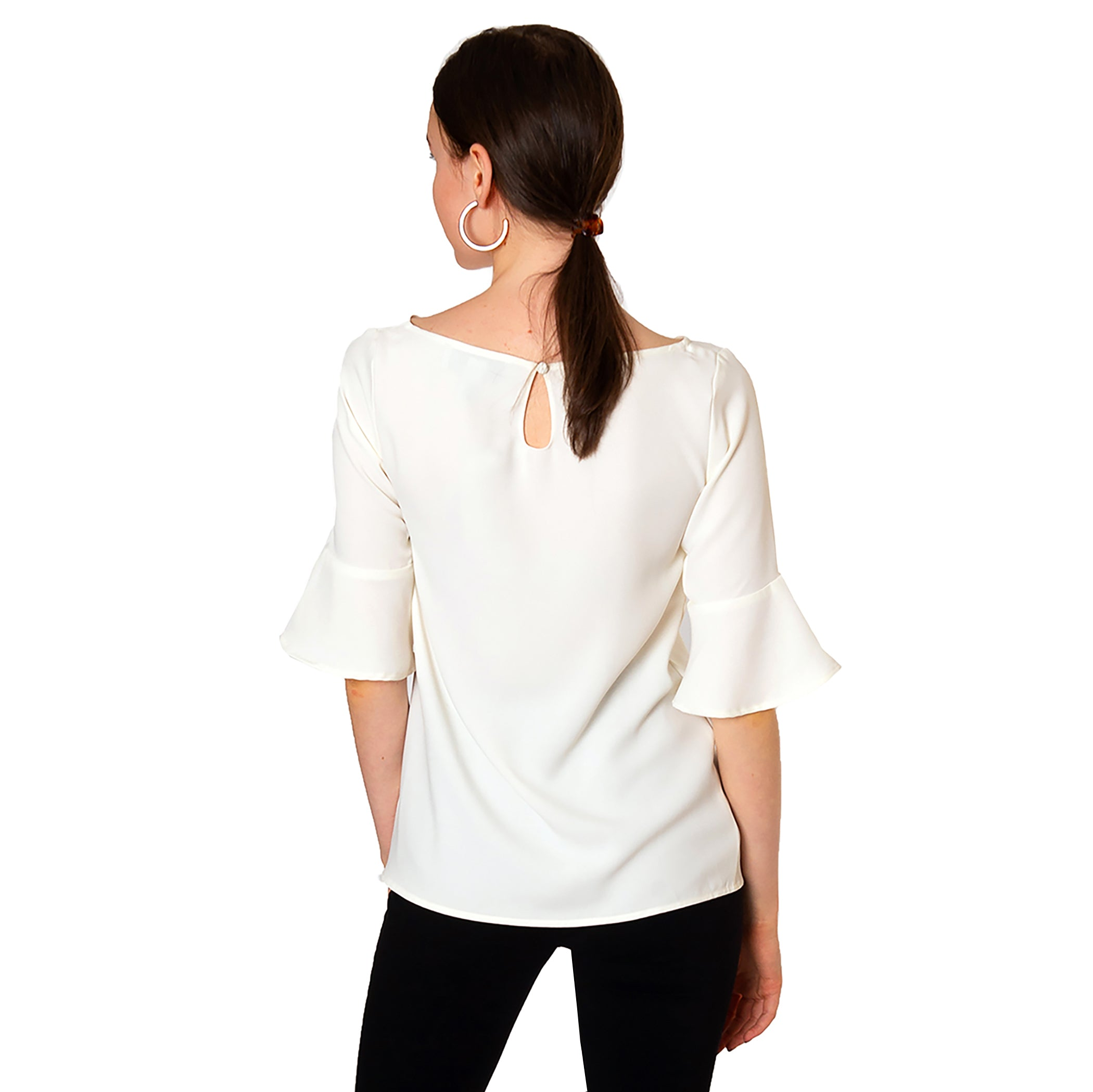 Caroline Blouse in White - Elizabeth Ackerman New York