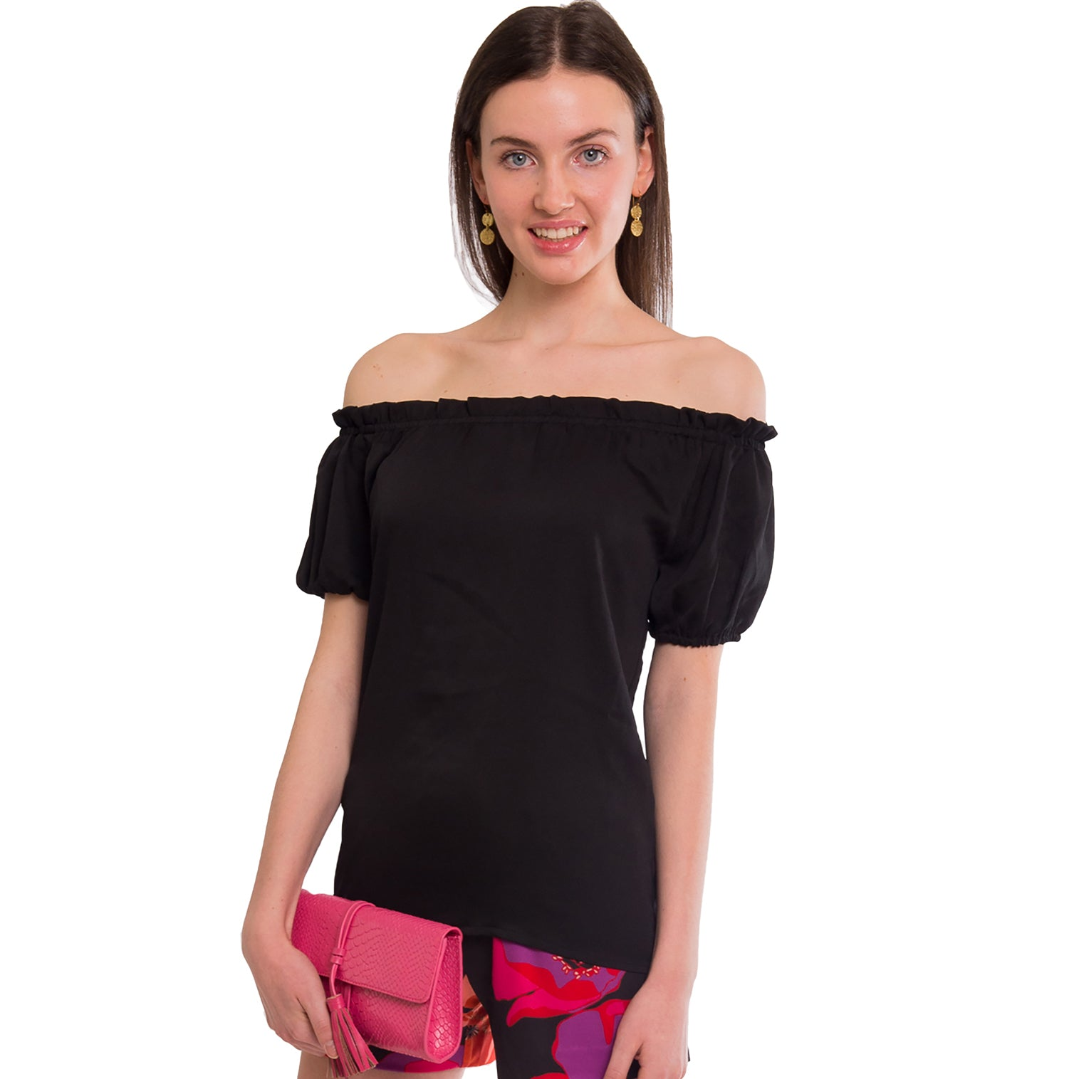 Sadie  Blouse in Black - Elizabeth Ackerman New York