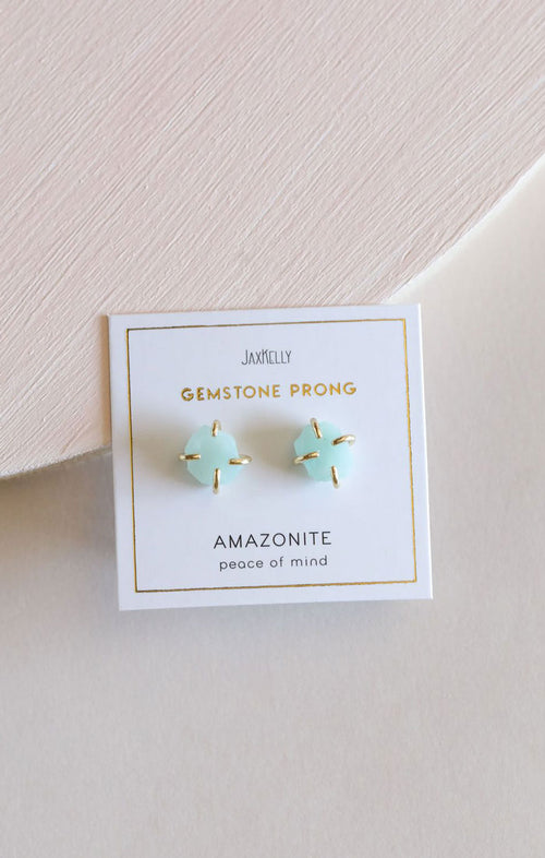 GEMSTONE STUDS - AMAZONITE