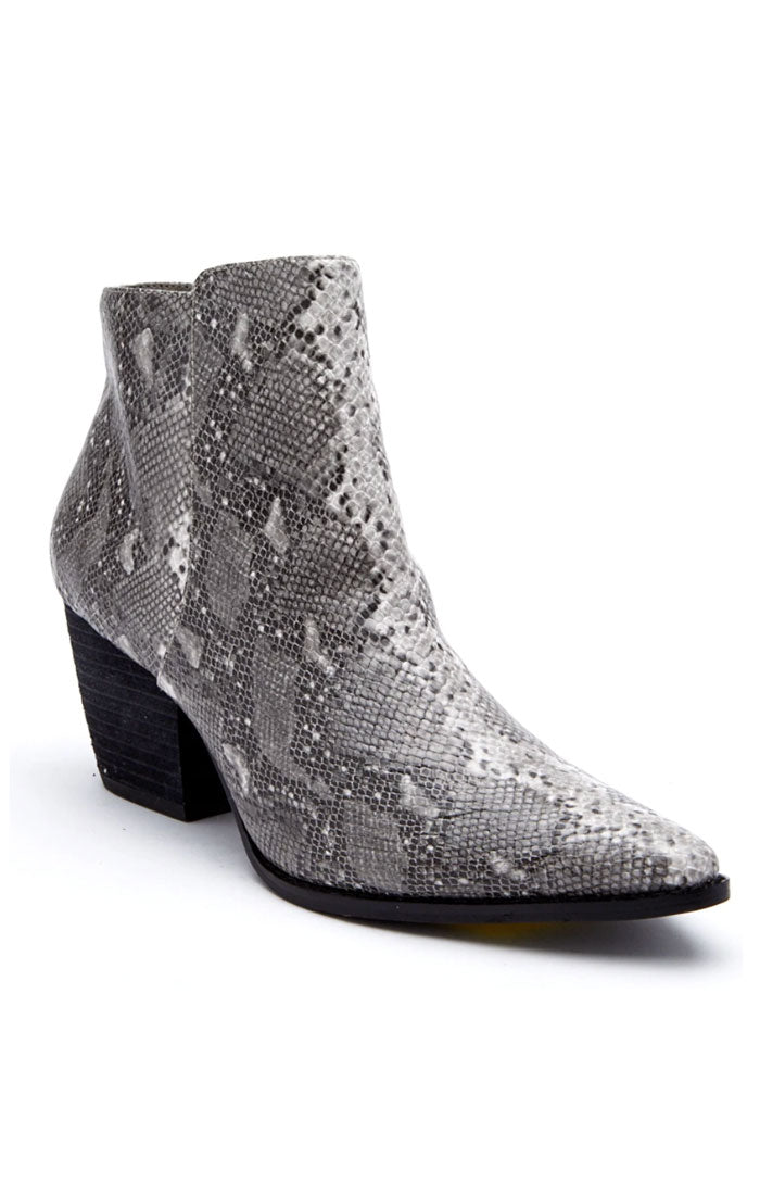 ASTORIA BOOTIE - GREY SNAKE