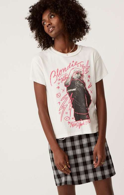 BLONDIE NEW YORK '76 REVERSE GIRLFRIEND TEE