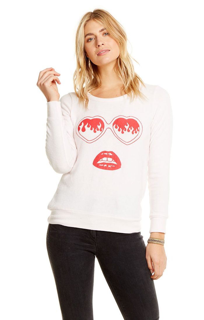 LOVE KNIT HEART SHADES SWEATER