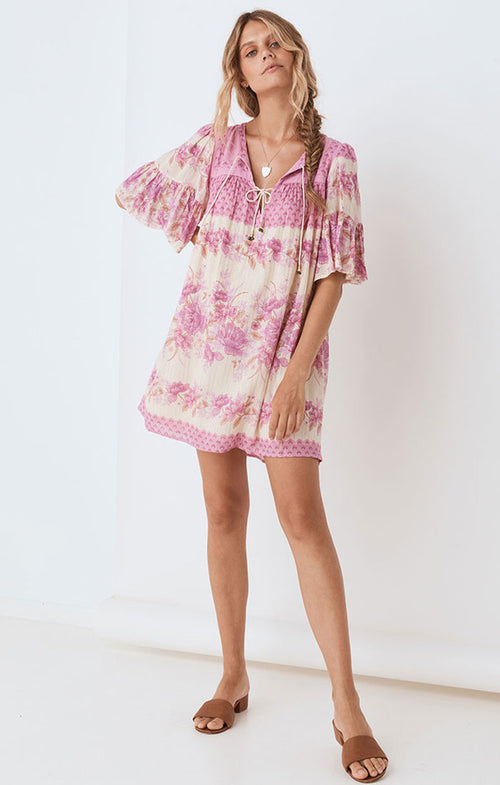 COCO LEI FLUTTER SLEEVE TUNIC