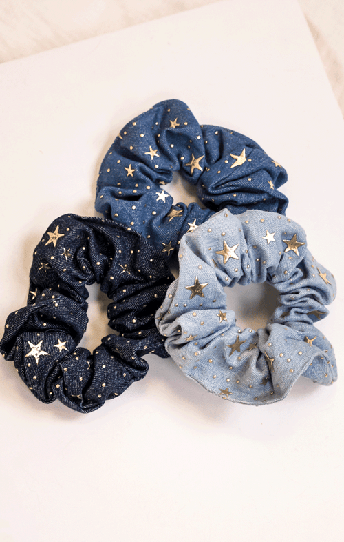 DENIM DAZE SCRUNCHIES