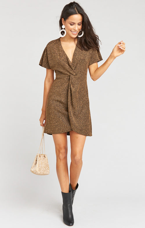 GET TWISTED MINI DRESS