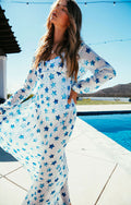 INDIGO STARS MAXI COVER UP