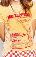 LED ZEPPELIN TAMPA STADIUM SLIM BURNOUT TEE