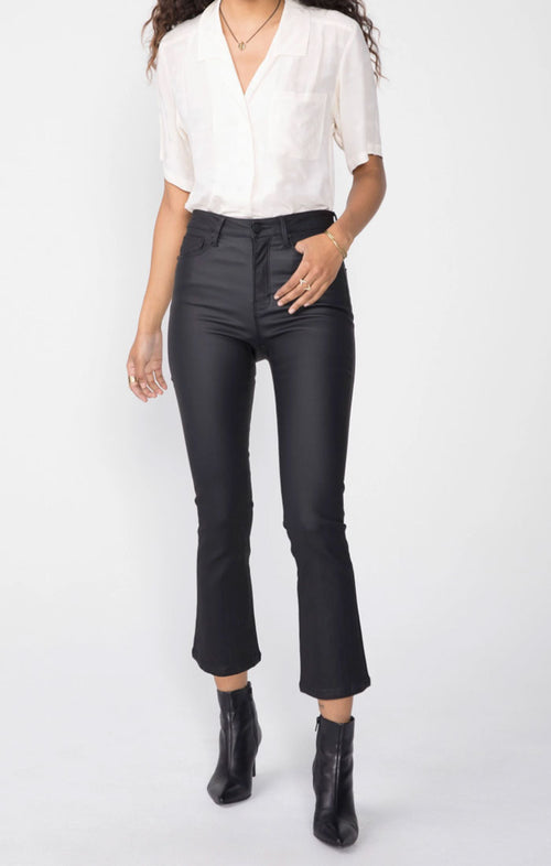 MARLOW CROP DEMI FLARE - BURNISHED