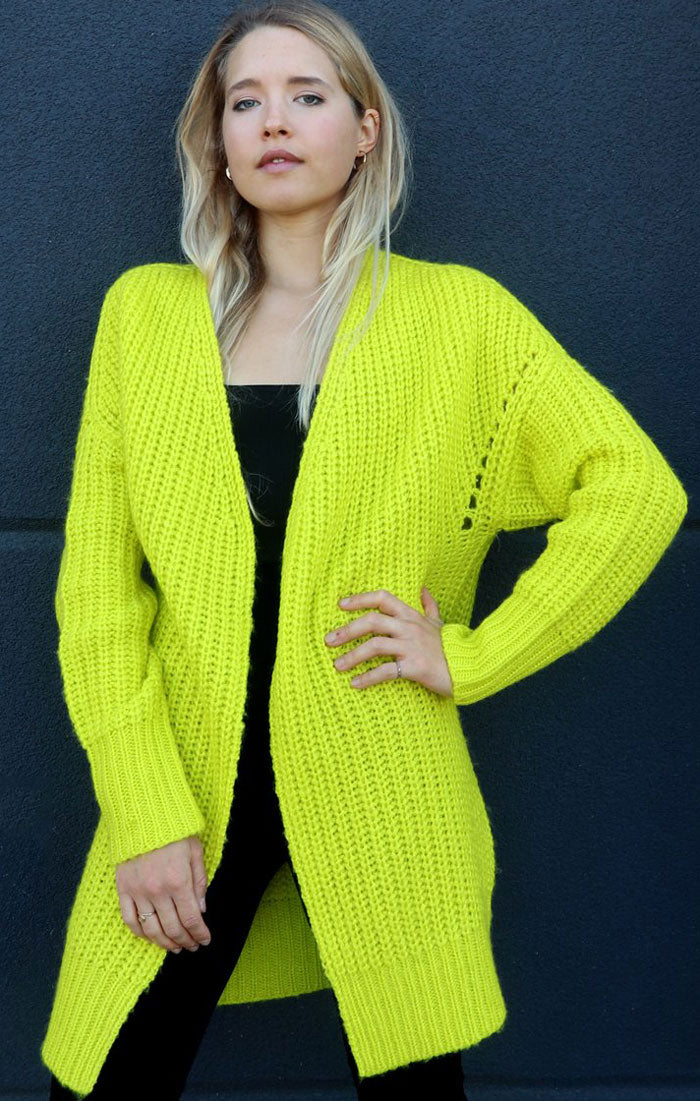 LIVING FOR NEON KNIT CARDIGAN