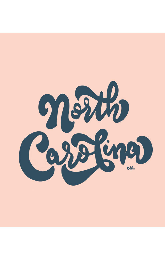 NORTH CAROLINA PRINT - PINK