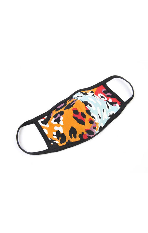 REUSABLE FACE MASK - MULTI LEOPARD
