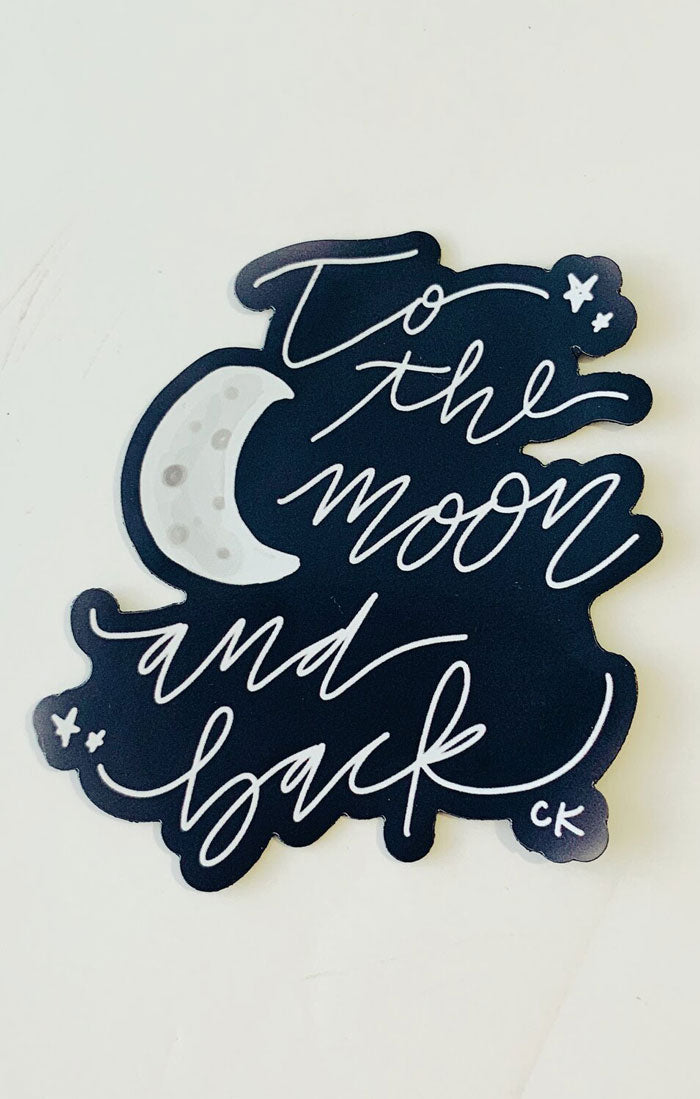 TO THE MOON AND BACK MAGNET