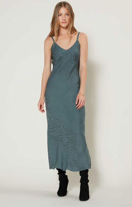 V-NECK MIDI BIAS DRESS