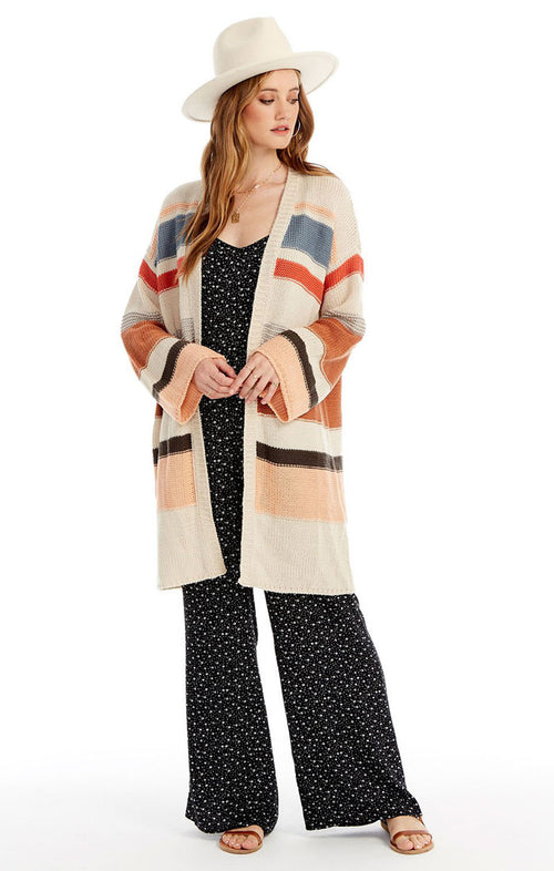 WALK A STRAIGHT LINE CARDIGAN