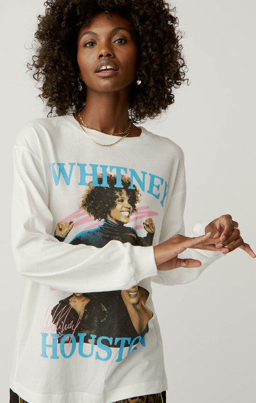 WHITNEY HOUSTON DANCE WITH SOMEBODY LONG SLEEVE TEE