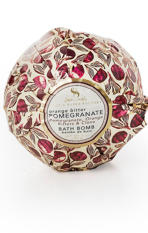 BATH BOMB - ORANGE BITTER POMEGRANATE