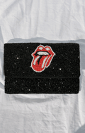 ROLLING STONE BEADED CLUTCH