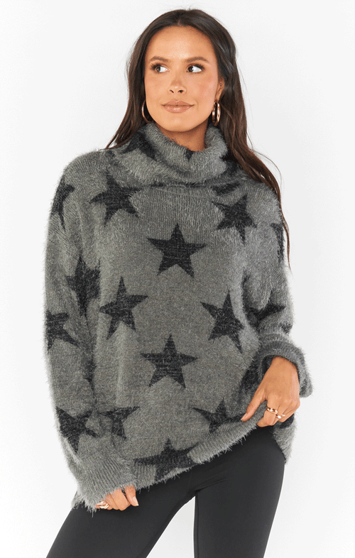 FATIMA SWEATER~ SMOKEY STAR KNIT