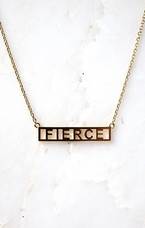 NAMEPLATE NECKLACE - FIERCE