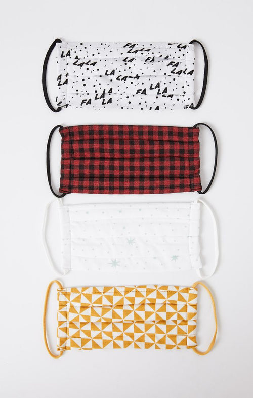 HOLIDAY REUSABLE FACE MASK (4-PACK)