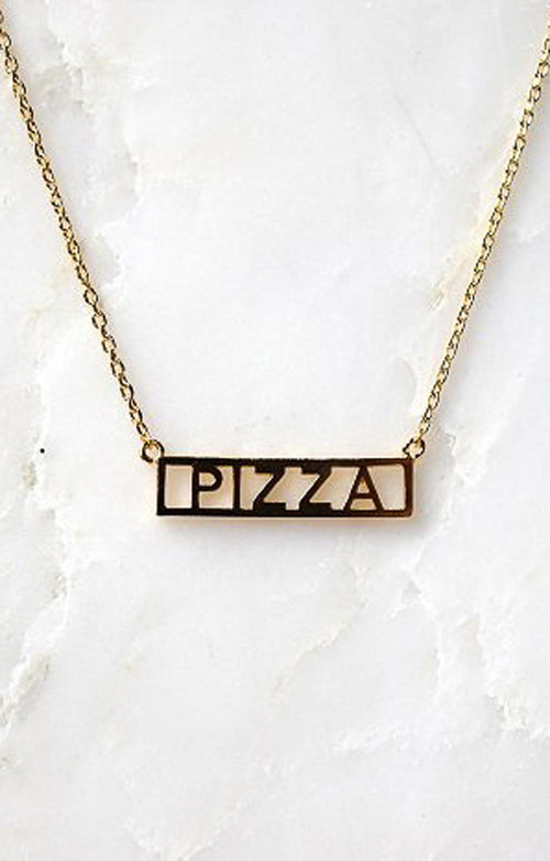 NAMEPLATE NECKLACE - PIZZA