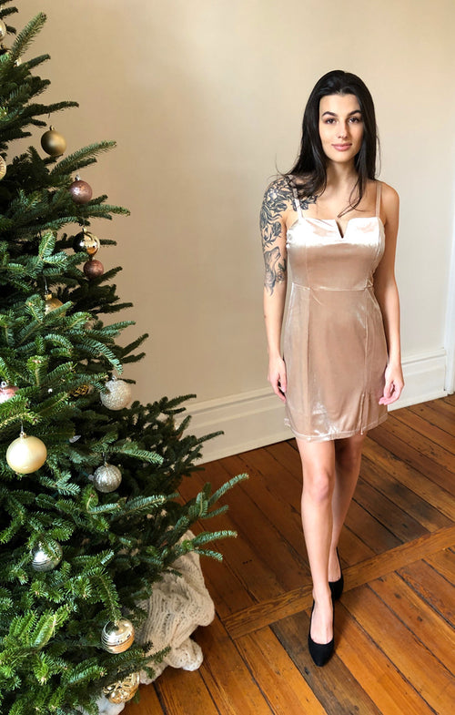 POP THE CHAMPAGNE MINI DRESS