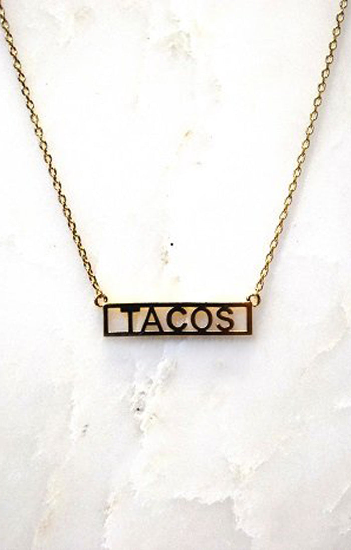 NAMEPLATE NECKLACE - TACOS