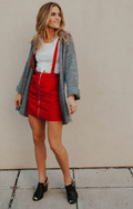 CORDUROY OVERALL MINI SKIRT