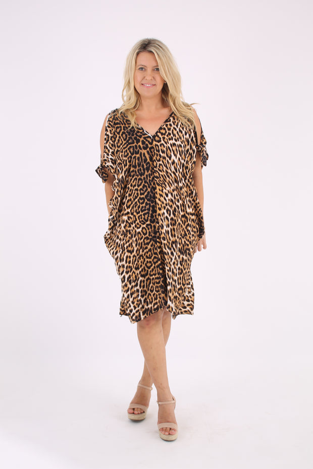 Animal Tie Sleeve Kaftan
