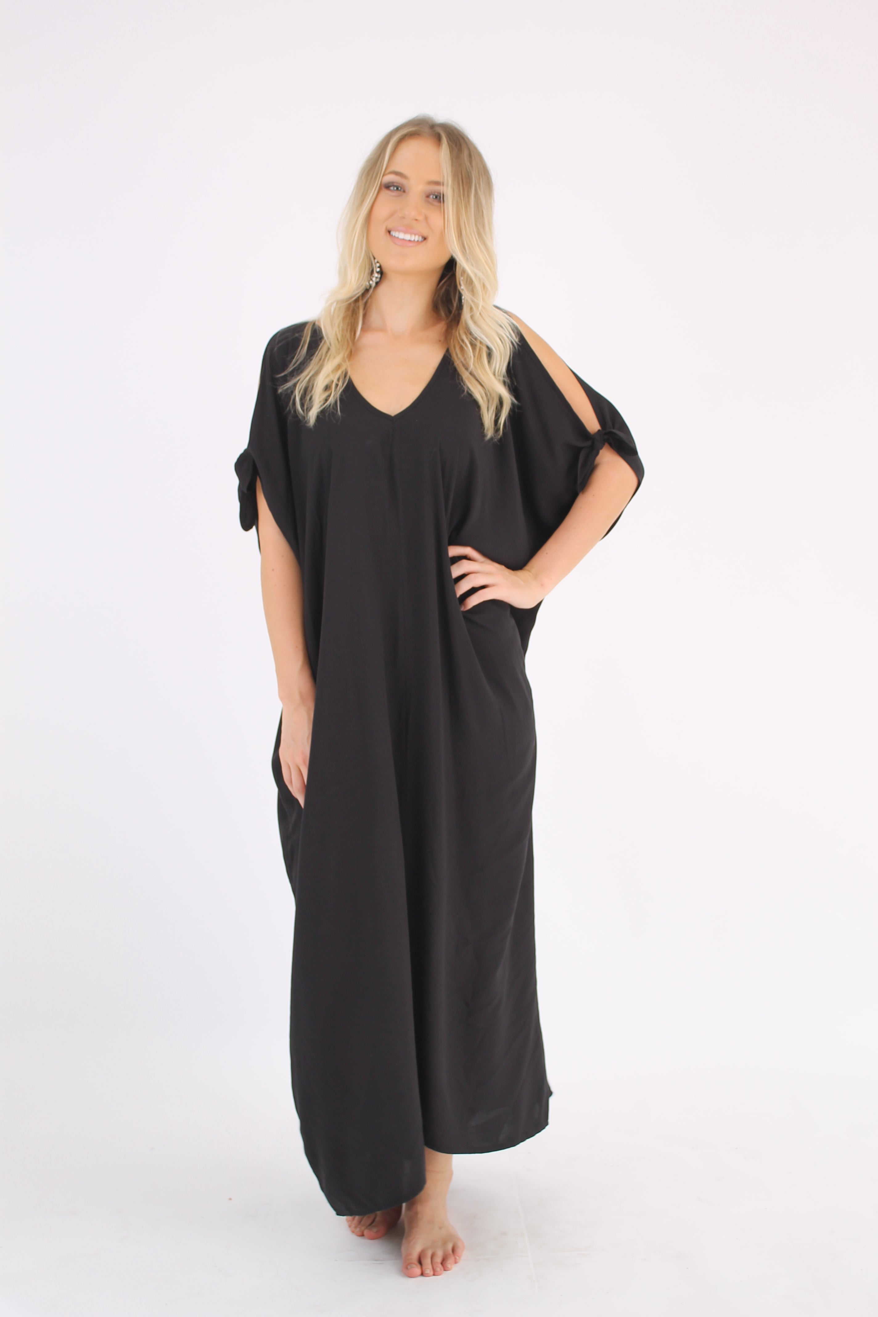 Kaftan Long Black