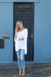 Boho Drape Top - White