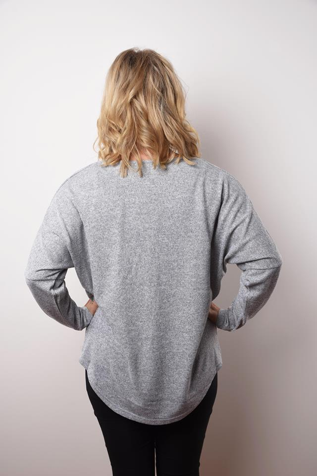 Zipper Knit - Grey