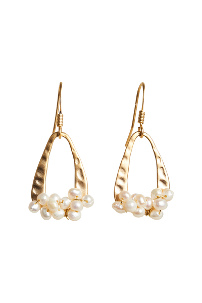 Luxe Cluster Earring - Pearl Cluster