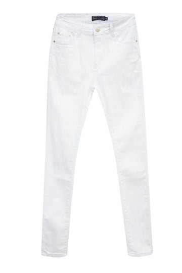 Country Denim Skinny White Jeans