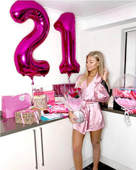 21 Pink Number Balloon