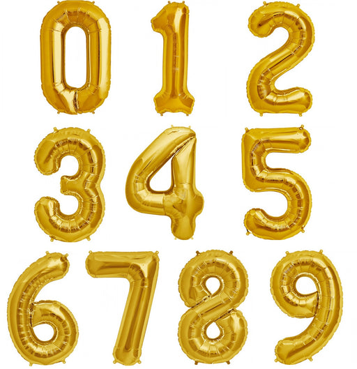 "Giant 34"" Mylar Gold Number Foil Balloons **HELIUM/AIR ARE NOT INCLUDED**"