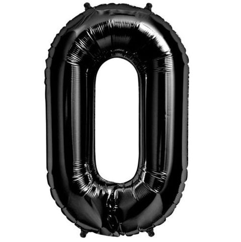 "Giant 34"" Mylar Foil Black Number Balloons"