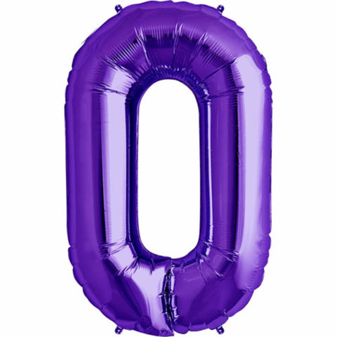 "Giant 34"" Mylar Purple Foil Number Balloons"