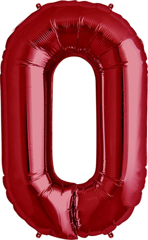 "Giant 34"" Mylar Red Foil Number Balloons"