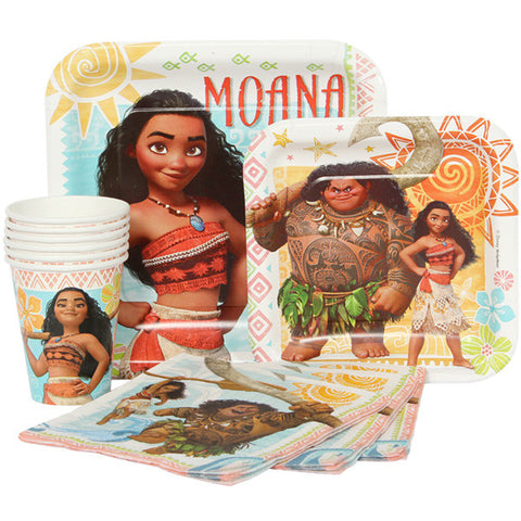 Disney Moana Combo Party Express Pack for 8 Guests (Cups Napkins & Plates)