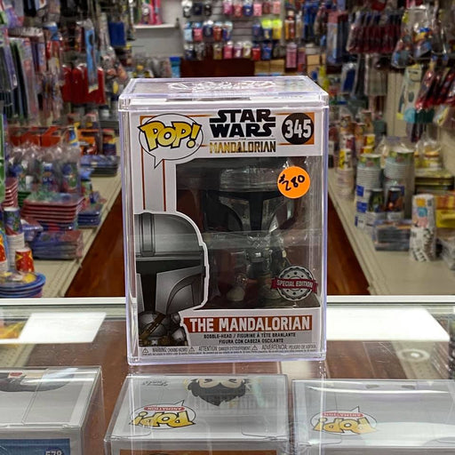 Funko POP Star Wars The Mandalorian Full Chrome Body 1st Edition RARE! with Pop Stack.