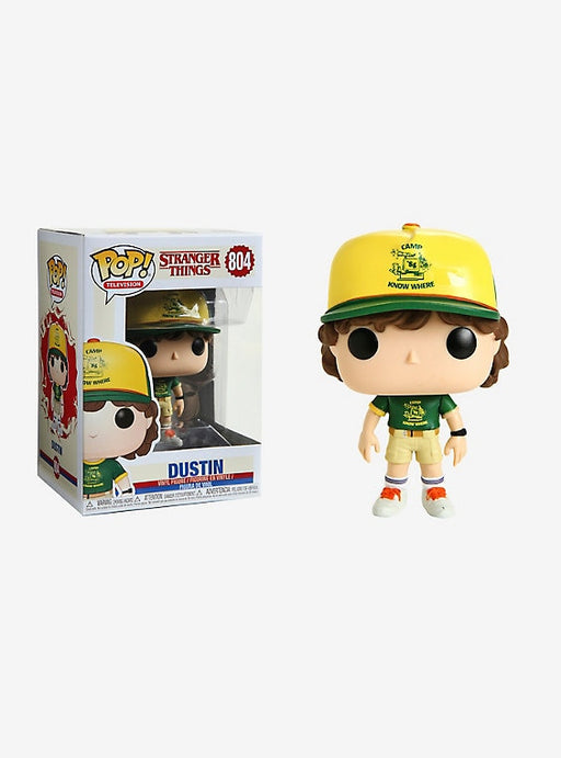 Funko Pop! Television: Stranger Things  - Dustin #804 Vinyl Figure w/ POP Protector