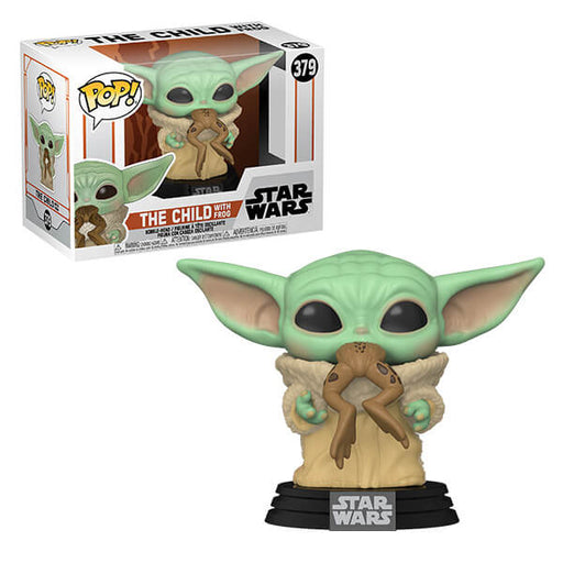 Funko POP! Star Wars - The Mandalorian 'The Child' (Baby Yoda) with Frog Vinyl Figure #379