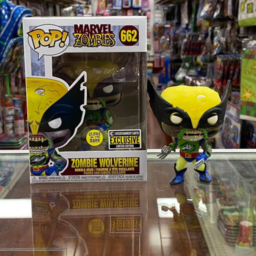 Funko Pop! Marvel: Marvel Zombies - Zombie Wolverine Vinyl Figure #662 (Glow in the Dark) Entertainment Earth Exclusive