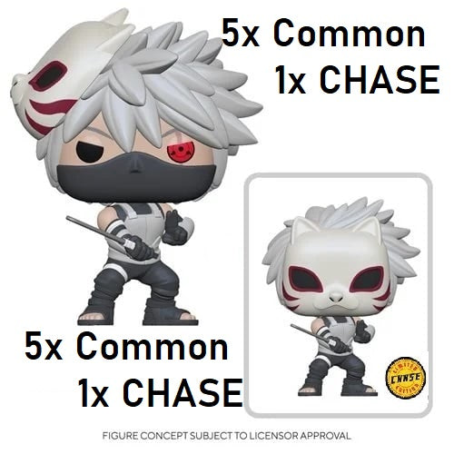 [PRE-ORDER] Funko Pop! Naruto: Shippuden Kakashi ANBU- AAA Anime Exclusive 1X CHASE+5X COMMON WHOLE BOX OF 6 Vinyl Figure (SECOND SHIPMENT)